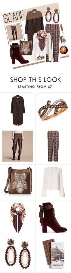"""""""Winter scarf"""" by na-pan ❤ liked on Polyvore featuring The 2nd Skin Co., LeVian, Burberry, T-shirt & Jeans, Jonathan Simkhai, Chloé, Marni and Too Faced Cosmetics"""