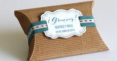 Cajita con etiqueta personalizada #regalos #invitados #bautizo #boda