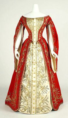 By an edict of Tsar Nicholas I, enacted in 1834, Russian court dress was strictly regulated, and at official functions ladies were...