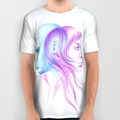 #clothing #alloverprint #tshirt #art #love #illustration #clothes