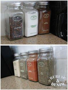 Tips for and OCD Organized KitchenBURLAP & DENIM