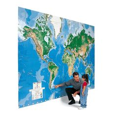 DRY ERASE MAP!!! Too perfect for words. The World's Largest Write On Map Mural - Hammacher Schlemmer