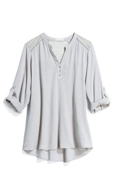 LOVE LOVE: love the color and the extra detail. casual top would be super easy with jeans. LOVE.