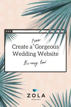 Set the tone for your big day with one of our free website designs. Then personalize your favorite one with photos, stories, and all of your wedding details.