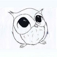 owl draw simple - Hledat Googlem