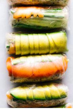 Beautiful & healthy summer roll recipes.