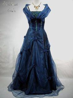 Gothic Victorian Dresses | Details about VICTORIAN Gothic Fae MASQUERADE Dress/BALLGOWN - 16/18