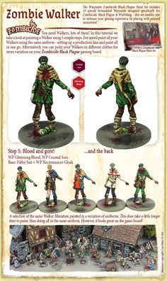 The Army Painter: Zombie Walker Zombicide Black Plague, Medieval Houses, Mini Paintings, Paint Set, Tabletop Games, Color Theory, Dungeons And Dragons, Card Games, Paint Colors