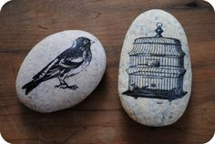 DIY: rock transfers.