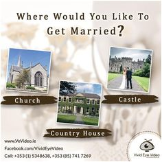 Where would you like to get married? A castle, church or a country house? Let us know in your comments below. #vivideyevideo #wedding #weddingvideographer