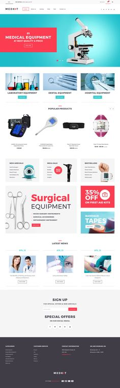 Medical Equipment Responsive Shopify Theme #63801