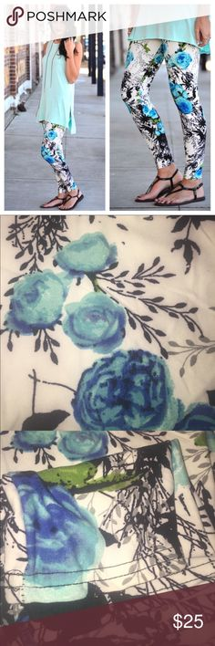 ♥️Floral Print Leggings...NWT♥️ Brand new with tag.  Super soft material.  92% polyester & 5% spandex   ❌NO HOLDS ❌NO TRADES ❌NO ️️  My home is smoke free & pet free!! I do ship quick!! Infinity Raine Pants Leggings