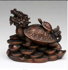 Copper Brass Dragon Turtle Tortoise Treasure Statue Furnishing Articles <font><b>Manualidades</b></font> Souvenirs wholesale factory BRASS Arts