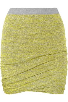 T by Alexander Wang, ruched jersey mini skirt