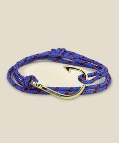 Zoom: Miansai - Fish Hook Bracelet - Blue/Gold