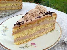 Nougattorte Easy Cake Recipes, Keto Recipes, Nougat Torte, Nutella, Buttercream Filling, Blueberry Recipes, Food Cakes, Sponge Cake, Biscuits