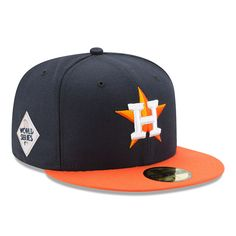 7bafc5182 Men s Houston Astros New Era Navy 2017 World Series Bound Side Patch Road  59FIFTY Fitted Hat. Astros CapOrange ...
