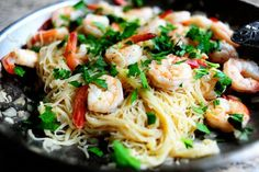 Shrip Scampi with Angel Hair...also from the pioneer woman.  Quick and easy.  This was delish...will be making over and over!