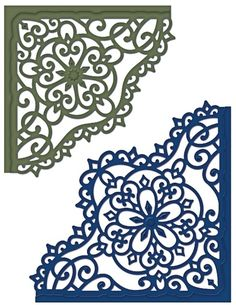 Heartfelt Creations Decorative Blossom Corner Die. This is an exclusive Heartfelt Creations Die manufactured by Spellbinders and will work with most manual die