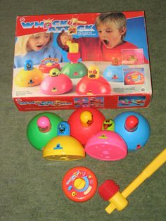 Aw hell naw! So i just remembered about this board game i used to have as a kid! WHACK ATTACK! I loved playing with this. I mean look at these colours! That whole pink monster face thing, the sound of the plastic hammer, the ticker. Fond memories. Very fond memories. Thanks brain.
