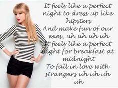 Taylor Swift - 22 (Lyrics On Screen) Home Lyrics, Taylor Swift 22, Taylor Swift Quotes, Favorite Words, My Favorite Music, Music Songs, Music Videos, Musica
