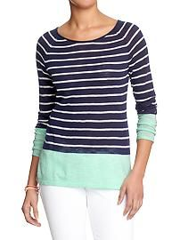 Women's Color-Block Sweater-Knit Tops