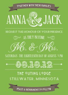 Fun and unique Wedding Invites