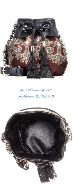Alessandra Rich Fall 2015 Jacquard & Leather Bucket Bag - Miss Millionairess & Co™