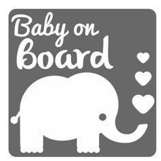 Non Personnalisé Enfant//Bébé À Bord Voiture Signe ~ Sleeping ELEPHANT ~ Rose Bébé