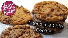 Chocolate Chip Cookies - Thermomix® - Rezept von Vanys Küche Chocolate Chip Cookies, Desserts Thermomix, Vegan Protein Bars, Almond Joy, Whole Food Recipes, Chips, Food And Drink, Veggies, Cookies Vegan