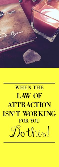 It's easy to feel like the law of attraction isn't working. But here I've got some tips and tricks to get your manifesting mojo back! The law of attraction is ALWAYS working. Here's how to make it work for you.