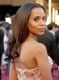 Kerry Washington knocked it out of the park again in the hair and makeup dept at the Oscars, don't you think?