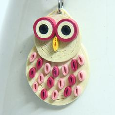 Pink Owl Pendant Eco Friendly Fashion Handmade by by HoneysHive