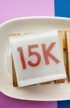 Say it Soap 15k Gifts for Runners Goals by SunbasilgardenSoap