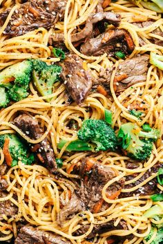 20 Minute Garlic Beef and Broccoli Lo Mein 3