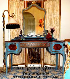 shabby chic furniture with gilding | Fifi Chic – Vanity and Mirror | Thee Velvet Glove