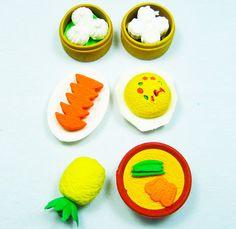 Snack food erasers   dumpling rubber erasers - $4.99USD