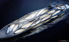 Yacht design by Zaha Hadid for Blohm+Voss