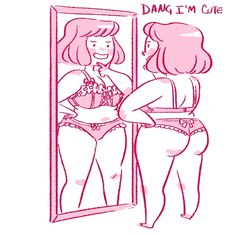 fat girls + short hair = YES! - gebranntsugars: mayakern: cute underwear is the best cure all for low self esteem Wooo - Body Love, Loving Your Body, Fat Girl Short Hair, Arte Indie, Plus Size Art, Cute Underwear, Chubby Girl, 6 Photos, Pictures