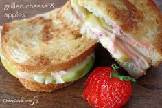 gruyere & green apple grilled cheese sandwich! - you can never go wrong with Grilled Cheese sandwiches I suggest to serve Chicken Noodle Soup or Tomato Bisque along with it