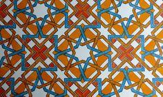 Islamic Geometry on the Guardian Tile Patterns, Cool Patterns, Pattern Art, Islamic Art Pattern, Arabic Pattern, Vintage Cigarette Case, Compass Design, Arabic Art, Geometric Art