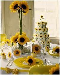 arreglos de mesa para boda con girasoles - Buscar con Google