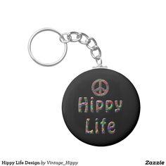Hippy Life Design Key Chains