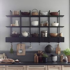 Ikea new kitchen wall shelving Falsterbo looks cool and its is very practical with shelves, drawers and hooks that allow you to keep everything in order. Interior Ikea, Kitchen Interior, Interior Design, Ikea Inspiration, Ikea New, Ikea Vardagen, Cuisines Design, Kitchen Styling, Home And Living