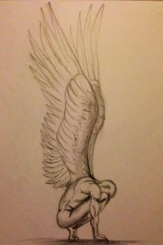 Angel sketch: not my drawing don't know who did it but it's wonderful! Pencil Sketch Drawing, Pencil Art Drawings, Art Drawings Sketches, Easy Drawings, Disney Drawings, Broken Drawings, Demon Drawings, Drawings Of Angels, Pen Sketch