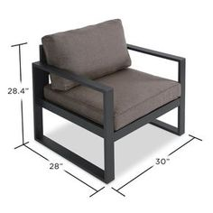 Unwind on the veranda or complete your patio ensemble with this understated arm chair, featuring a clean-lined aluminum frame and all-weather cushions.