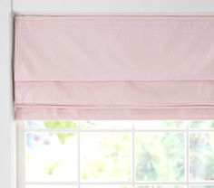 Twill Cordless Roman Shade with Blackout Lining | Pottery Barn Kids
