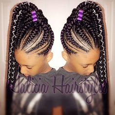 Gone are the days when cornrow hairstyles were rocked by older women and a few section of ladies but today it has become one of the most popular braided Box Braids Hairstyles, Braided Cornrow Hairstyles, Cornrow Ponytail, Ponytail Styles, Braid Styles, Girl Hairstyles, Feed In Braids Ponytail, Big Cornrows, Big Braids
