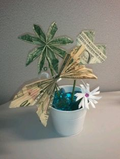 Money flowers for a gift