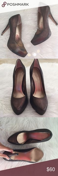 BCBGeneration Heels Gorgeous BCBGeneration heels in excellent condition! So cute! They are a metallic brown color. 10gbg53 BCBGeneration Shoes Heels